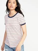 Old Navy Slim-Fit Striped Ringer Tee for Women