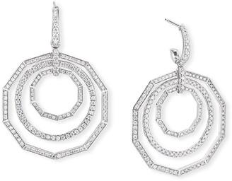 David Yurman Stax 18k White Gold Diamond Extra-Large Drop Earrings