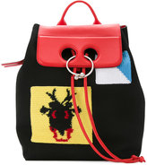 J.W.Anderson patch pierce backpack