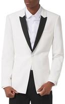 Topman Men's Skinny Fit Contrast Tuxedo Jacket