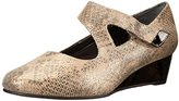 Ros Hommerson Women's Beau Crocodile Strappy Wedge Sandal