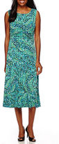 Jessica Howard Sleeveless Ruched Waist Dress