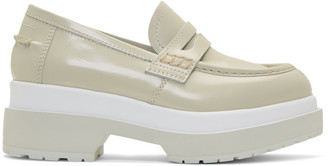 MM6 MAISON MARGIELA Green and White Platform Loafers