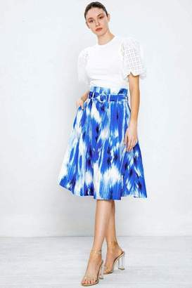Flying Tomato Pleated Printed Skirt