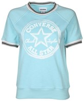 women's light blue short sleeve sweater - ShopStyle