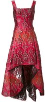 Alberta Ferretti brocade high-low gown