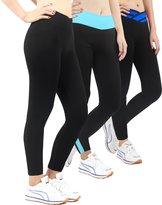 iLoveSIA Activewear Yoga Sport Legging Pants For Women Size L Grey+Lake blue+Blue