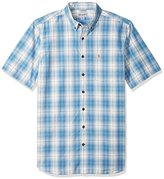 Carhartt Men's Big and Tall Essential Plaid Button Down Short Sleeve Shirt