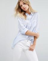 BOSS ORANGE Blue Pocket Shirt