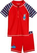 Playshoes Boy's 2-teiliges Badeset Taucher mit UV-Schutz Swim Shorts, Red (rot)