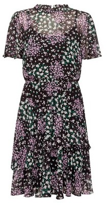 Dorothy Perkins Womens Dp Tall Multi Colour Fit And Flare Dress