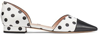 Kate Spade Maison Polka Dot Leather d'Orsay Flats