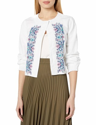 Nanette Lepore Women's Crop Jacket with Embroidery
