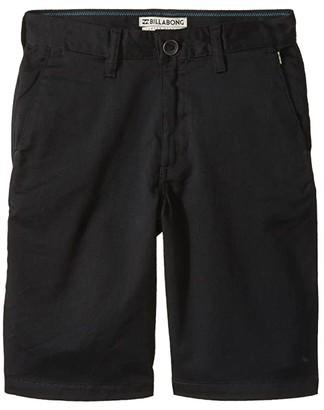 Billabong Kids Carter Stretch Shorts (Big Kids) (Black) Boy's Shorts
