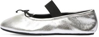 Marni 10mm Metallic Leather Ballerinas