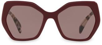 Prada 56mmTinted Tortoise Sunglasses