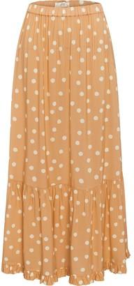 Peony Swimwear Polka Dot Flared Maxi Skirt