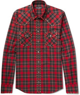 Dolce & Gabbana - Slim-fit Studded Checked Cotton-twill Shirt