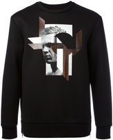 Neil Barrett graphic print sweatshirt - men - Polyurethane/Viscose - S