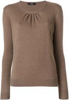 Steffen Schraut pleated detail knitted blouse