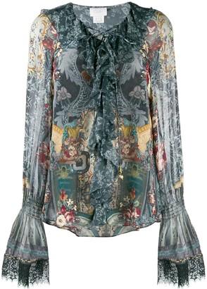 Camilla printed long sleeve blouse