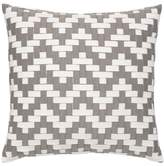 Elaine Smith Alabaster Basket Weave Accent Pillow