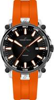 Pierre Petit Le Mans Men's 44mm Automatic Orange Silicone Watch P-818C