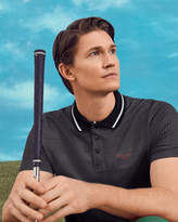 Ted Baker Golf Tee Pattern Polo Shirt Black