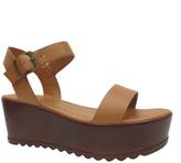 Bamboo Tan Effie Platform Sandal
