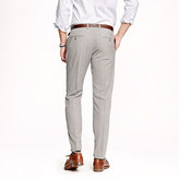 Ludlow classic suit pant in light charcoal Italian worsted wool