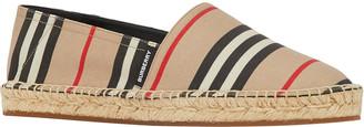 Burberry Alport Striped Espadrille Slip-On Loafers