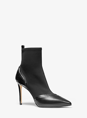 Michael Kors Khloe Scuba and Leather Ankle Boot
