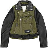 Diesel Grove Green Moto Jacket - Boys