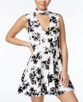 Trixxi Juniors' Gigi Flocked Floral-Print Dress