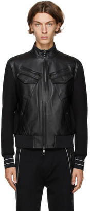 Neil Barrett Black Panelled Leather Jacket