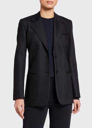Loro Piana Pinstriped Wool Blazer