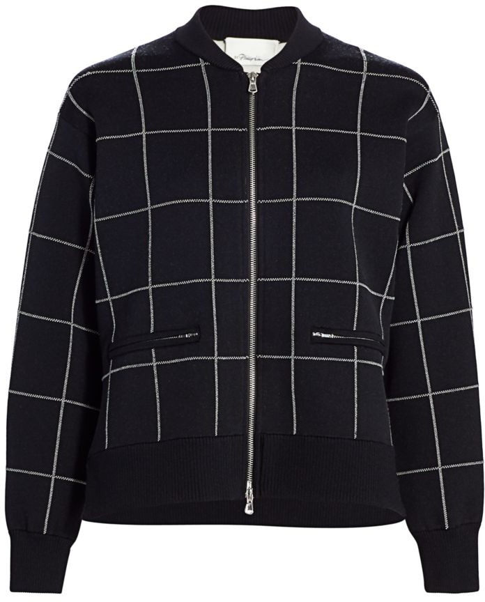 3.1 Phillip Lim Double-Faced Check Bomber