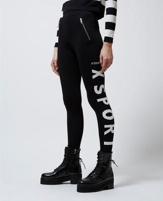 The Kooples Slim-fit black joggers w/contrast logo trims