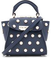 Zac Posen Eartha Mini Top Handle Bag in Navy.