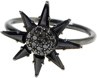 BONDEYE JEWELRY Clio Black Spinel Ring