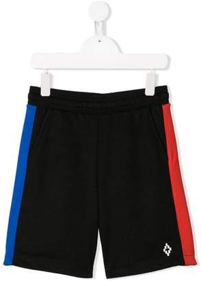 Marcelo Burlon County of Milan Kids logo colour-block shorts