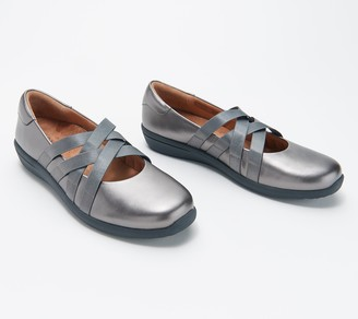 Vionic Leather or Metallic Mary Janes - Serenity