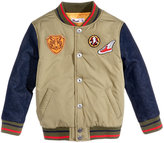 Epic Threads Patch Bomber Jacket, Toddler & Little Boys (2T-7), Created for Macy's