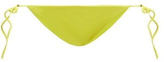 JADE SWIM Ties Side-tie Bikini Briefs - Light Green