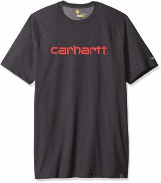 Carhartt Men's Big & Tall Force Cotton Delmont Graphic Short Sleeve T-Shirt
