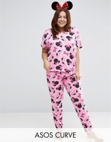 Asos Minnie Mouse Print Tee & Legging Pajama Set