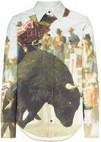 Calvin Klein Jeans Est. 1978 landscape bull print cotton shirt