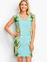 Talbots Tropical Fruit & Stripes Cover-Up