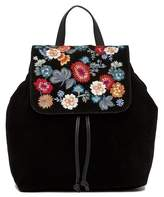 Lucky Brand Super Bloom Floral Embroidered Suede Backpack