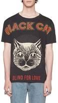 Gucci Black Cat Graphic T-Shirt
